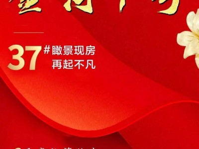 荣归故里|金河1号37#瞰景高层应市加推,4188元/平米起